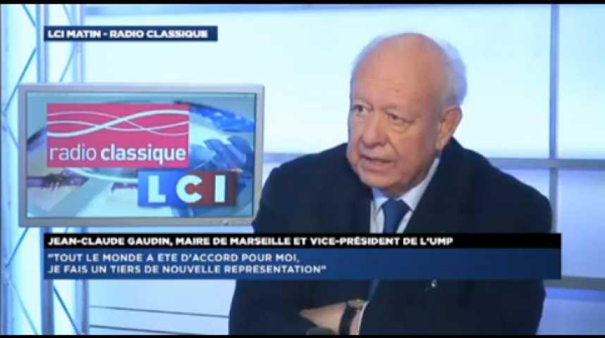 """Illustration pour la vidéo Jean-Claude Gaudin : """"Tout l'appareil de l'Etat est mobilisé en faveur du candidat socialiste. Ce n'est pas déontologique"""""""