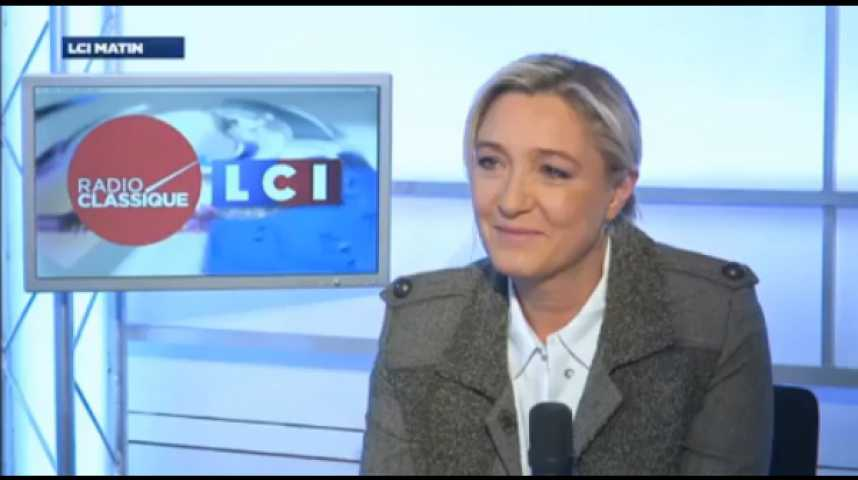 """Illustration pour la vidéo Marine Le Pen : """"Je pense que le gouvernement de François Hollande va subir une véritable déroute aux élections municipales et européennes"""""""