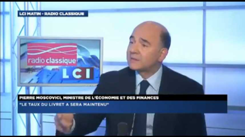 """Illustration pour la vidéo Pierre Moscovici: """"Le taux du livret A est maintenu à 1,25%"""""""