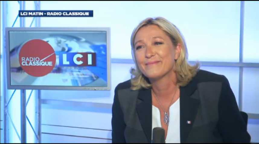 """Illustration pour la vidéo Marine Le Pen : """"Ce sont les diktats de l'Union Européenne qui bloquent l'économie française"""""""
