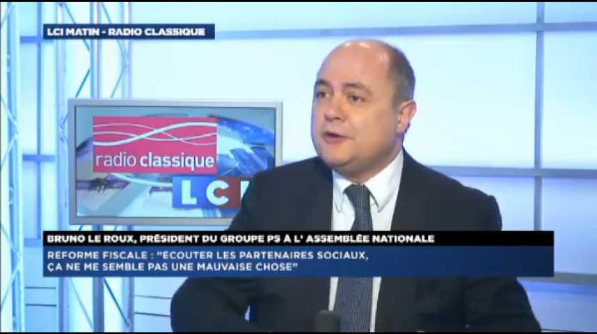 """Illustration pour la vidéo Bruno Le Roux: """"La réforme fiscale, ce n'est pas un coup politique"""""""