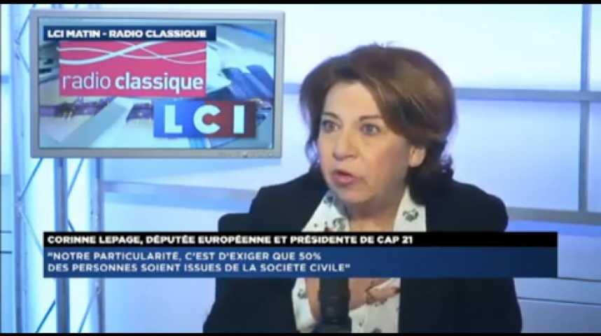 """Illustration pour la vidéo Corinne Lepage:""""François Hollande est notre Président, élu encore pour 3 ans, et il faut qu'il gagne car la France doit gagner."""""""
