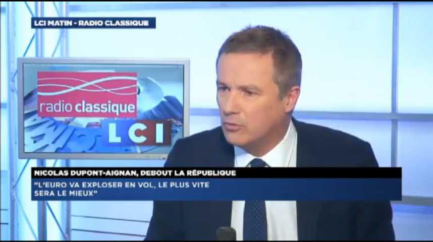 """Illustration pour la vidéo Nicolas Dupont Aignan: """"François Hollande sait très bien que la baisse du chômage est artificielle"""""""
