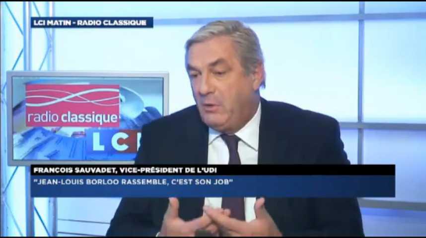 """Illustration pour la vidéo François Sauvadet: """"J'attends des preuves d'amour de François Bayrou. Il faut que nous devenions le parti leader du centre et de la droite."""""""