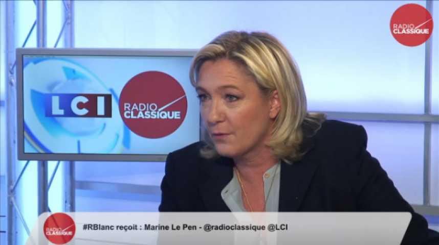 """Illustration pour la vidéo Marine Le Pen : """"Cette loi Macron est une exigence, une instruction de l'Union européenne"""""""