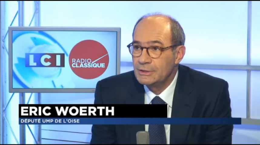 """Illustration pour la vidéo Éric Woerth : """"Hollande à 40% : Cette popularité est construite sur du vide"""""""