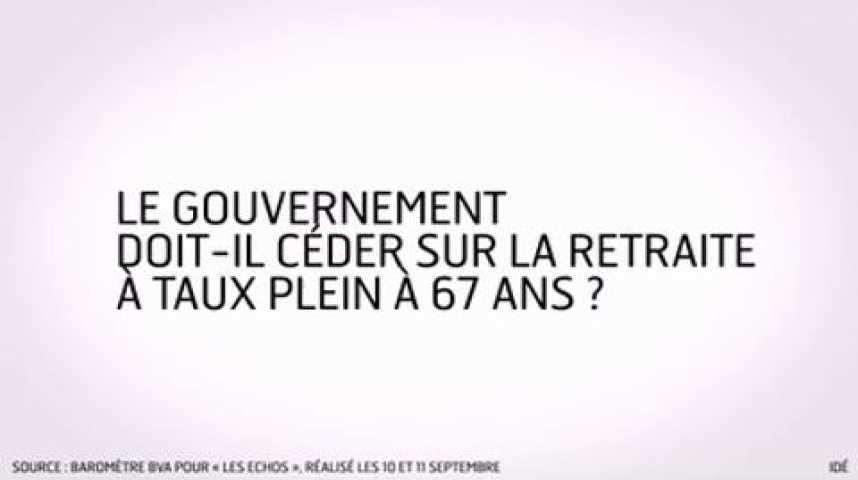 Illustration pour la vidéo L'infographie du jour : les Français et leur retraite