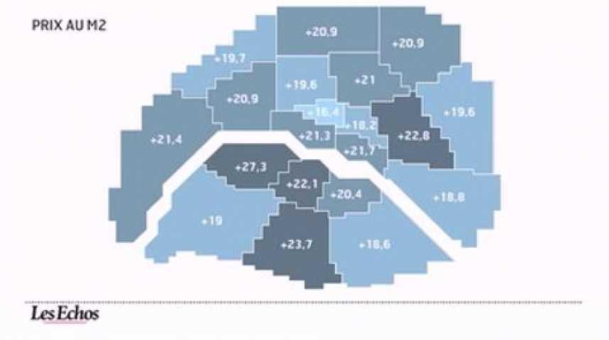 Illustration pour la vidéo L'infographie du jour : Le marché de l'immobilier à Paris-Ile de France