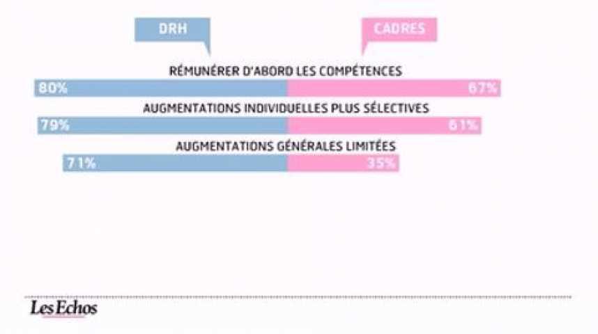 Illustration pour la vidéo L'infographie du jour : salaires des cadres en 2012, priorité aux compétences