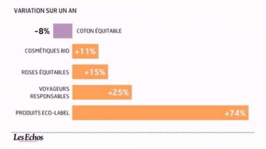 Illustration pour la vidéo L'infographie du jour : Développement durable et modes de consommation