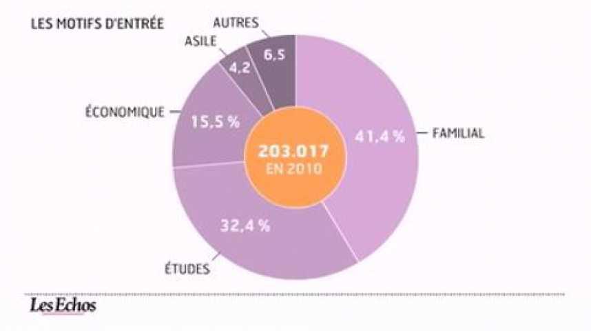 Illustration pour la vidéo L'infographie du jour : L'immigration en France en 2010