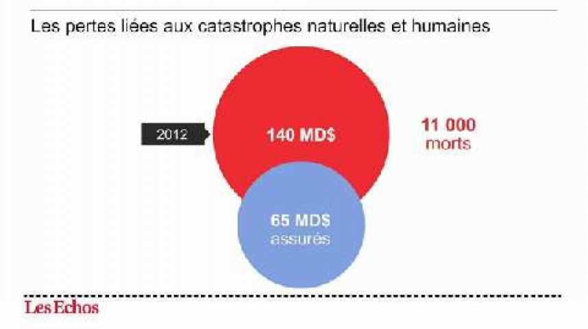 Illustration pour la vidéo L'infographie du jour : Catastrophes, 140 Mds$ de pertes en 2012