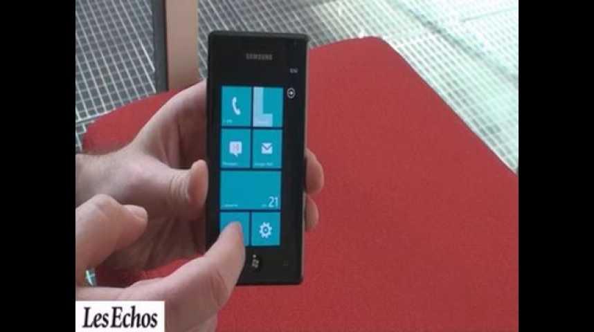 Illustration pour la vidéo Windows Phone 7 testé sur l'Omnia 7 de Samsung