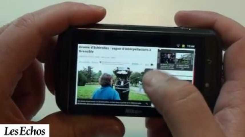 Illustration pour la vidéo Nikon S800c, l'appareil photo à la mode Android