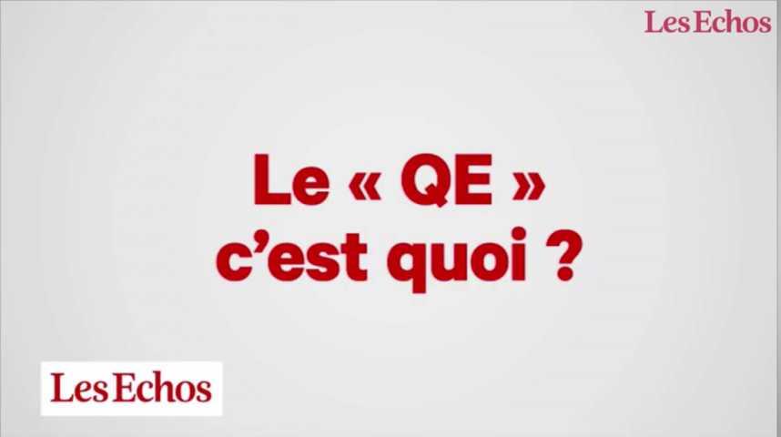 """Illustration pour la vidéo Les dessous de l'éco : Le """"quantitative easing"""", c'est quoi ?"""
