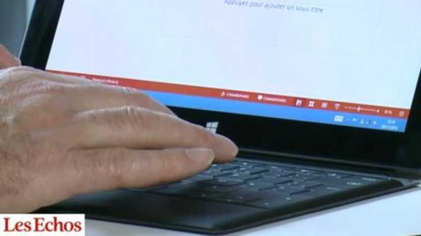 Illustration pour la vidéo Surface : la tablette de Microsoft à l'essai