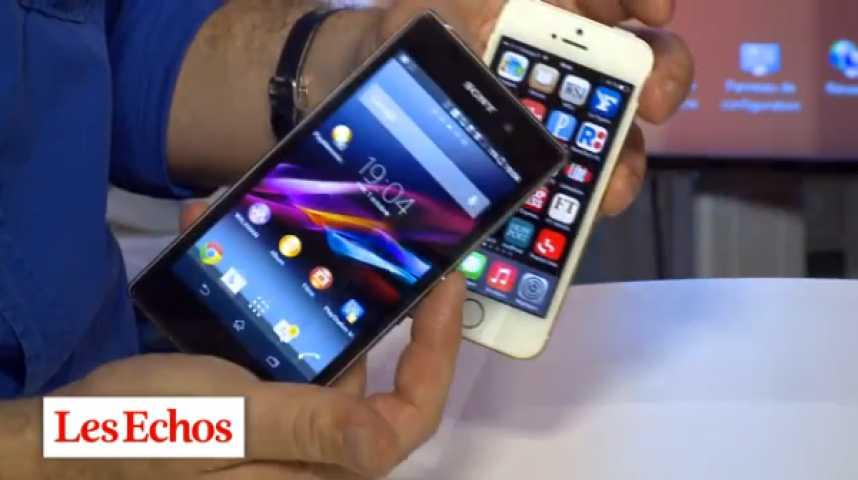 Illustration pour la vidéo iPhone 5s - Xperia Z1 : le match en vidéo