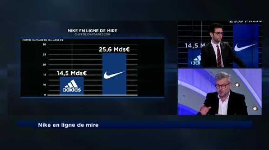 Illustration pour la vidéo Adidas engage la poursuite contre Nike