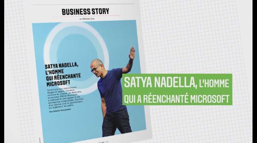 Illustration pour la vidéo Les Echos Week-End : Satya Nadella, l'homme qui a réenchanté Microsoft !