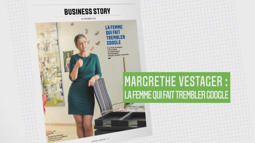 Illustration pour la vidéo Les Echos Week-End : Margrethe Vestager, la femme qui fait trembler Google