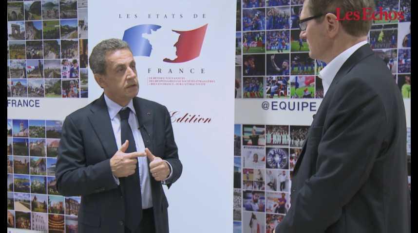 Illustration pour la vidéo Nicolas Sarkozy : «Baisser les charges sur les salaires pour renforcer la compétitivité de nos entreprises»