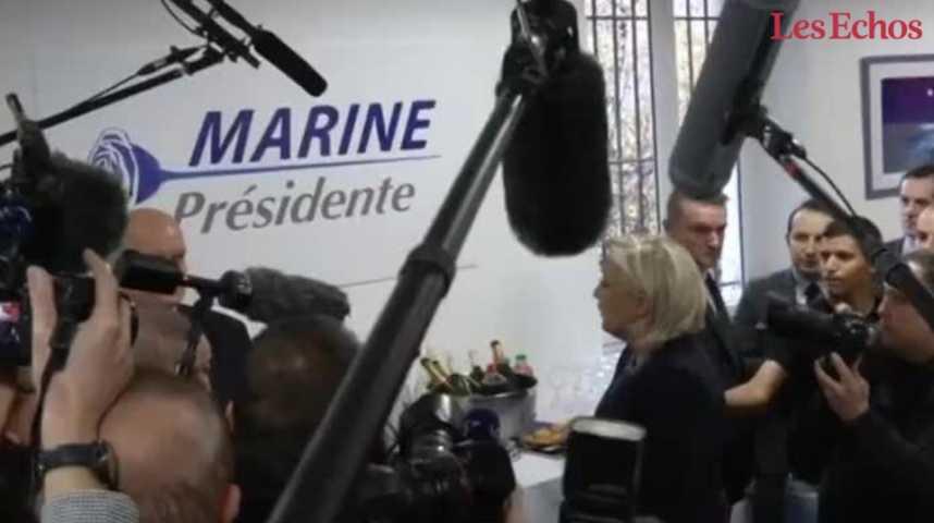 Illustration pour la vidéo Marine Le Pen dévoile le nouveau logo et slogan du FN