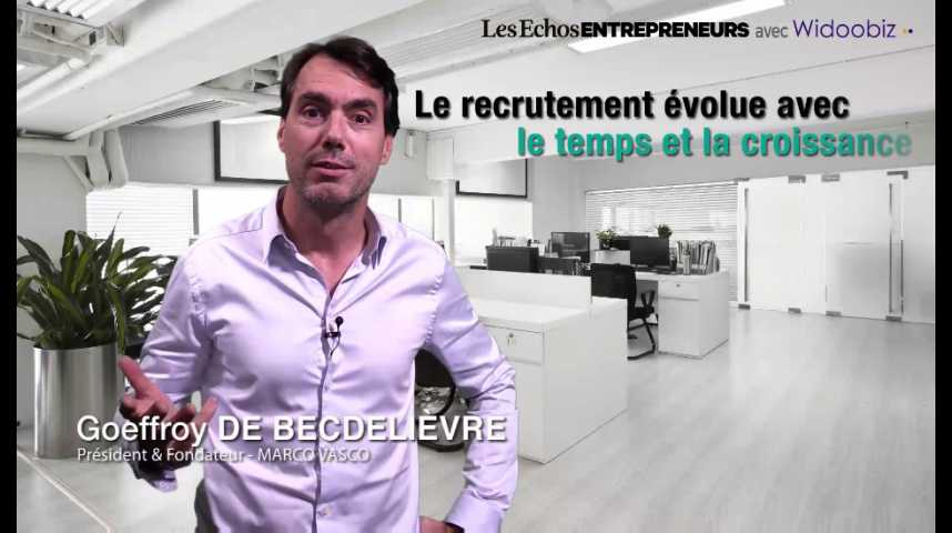 Illustration pour la vidéo Le recrutement, un process qui évolue, par Geoffroy de Becdelièvre, de Marco Vasco