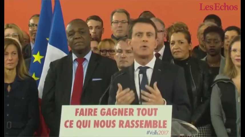 Illustration pour la vidéo Manuel Valls : « Je suis candidat à la présidence de la République »