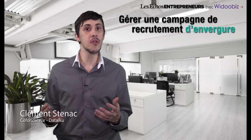 Illustration pour la vidéo Gérer une campagne de recrutement d'envergure, par Clément Stenac de Dataïku
