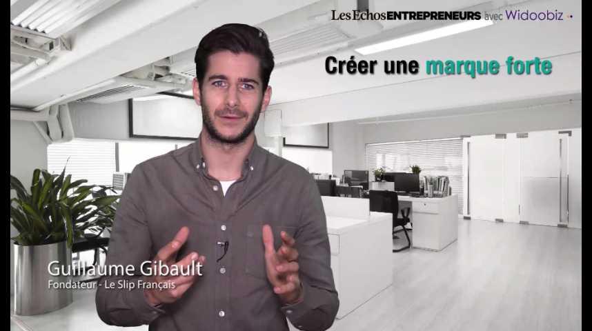 Illustration pour la vidéo Créer une marque forte, par Guillaume Gibault du Slip Français