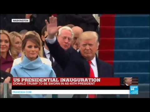 US Presidential inauguration: Donald Trump arrives to Capitol Hill to be sworn in