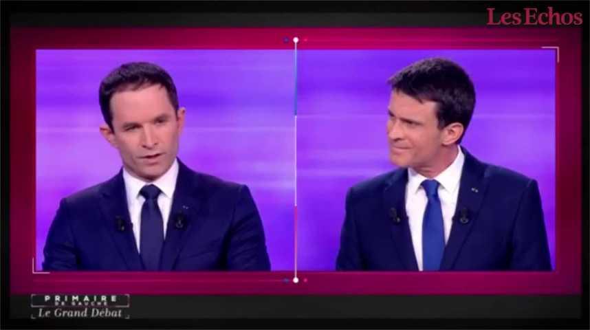 """Illustration pour la vidéo """"Crédibilité"""" vs. """"justice"""" : passe d'armes entre Benoît Hamon et Manuel Valls"""