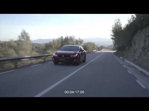 2017 Honda Civic Driving Video in Red Trailer | AutoMotoTV