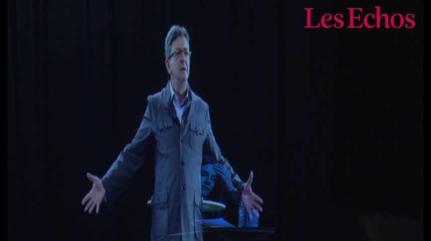 Illustration pour la vidéo Les petites mains de la présidentielle : les dessous de l'hologramme de Jean-Luc Mélenchon