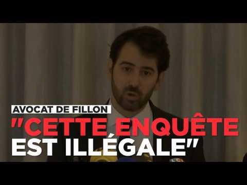 """Affaire Fillon : pour ses avocats, """"l'enquête est illégale"""""""
