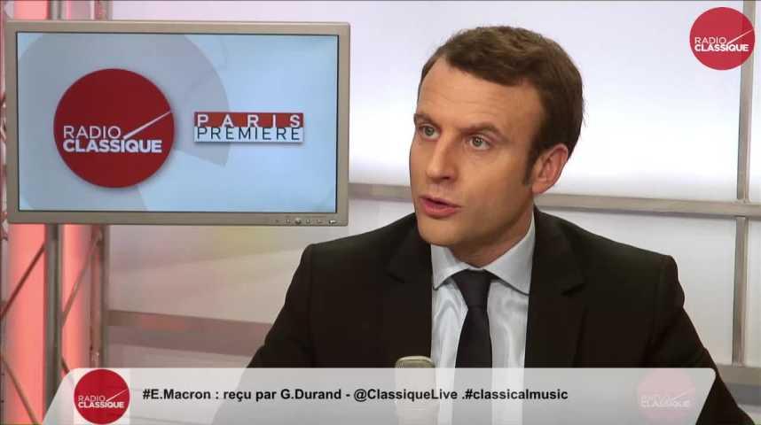 Illustration pour la vidéo « Le pluralisme d'En Marche va de la social-démocratie jusqu'au gaullisme social » Emmanuel Macron Partie 2 (17/02/2017)