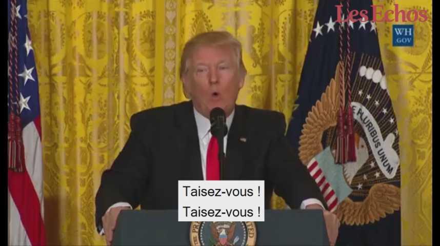 Illustration pour la vidéo Quand Donald Trump règle ses comptes pendant sa conférence de presse