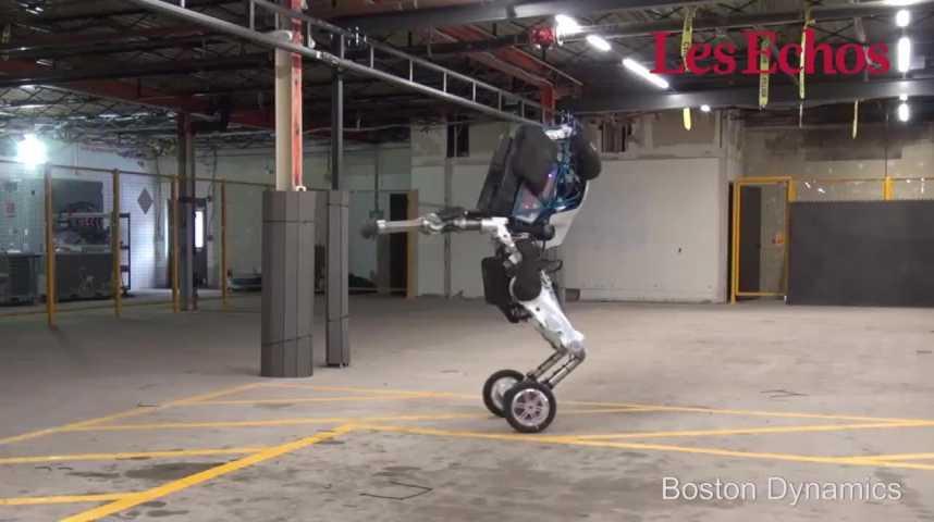 Illustration pour la vidéo Les premiers pas de Handle, le nouveau robot de Boston Dynamics