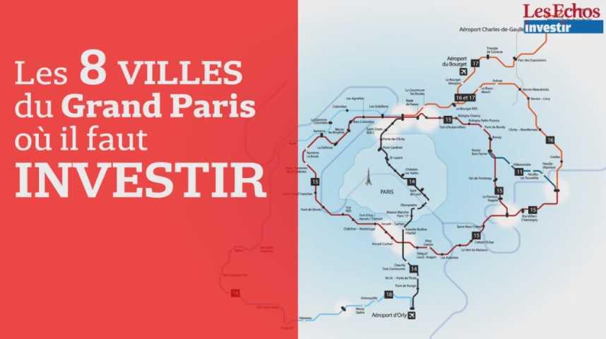 Illustration pour la vidéo Les 8 villes du Grand Paris où il faut investir