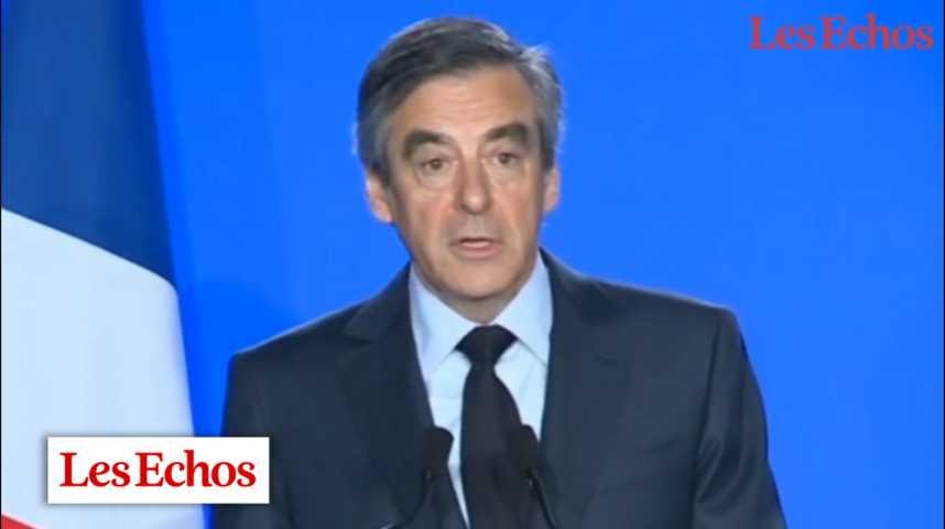 Illustration pour la vidéo Les contradictions de François Fillon en 1'30