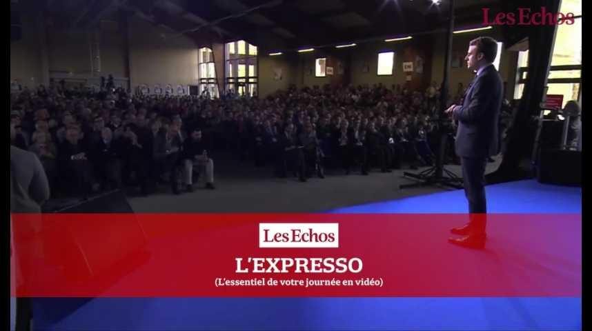 Illustration pour la vidéo Emmanuel Macron : Jour-J pour son programme