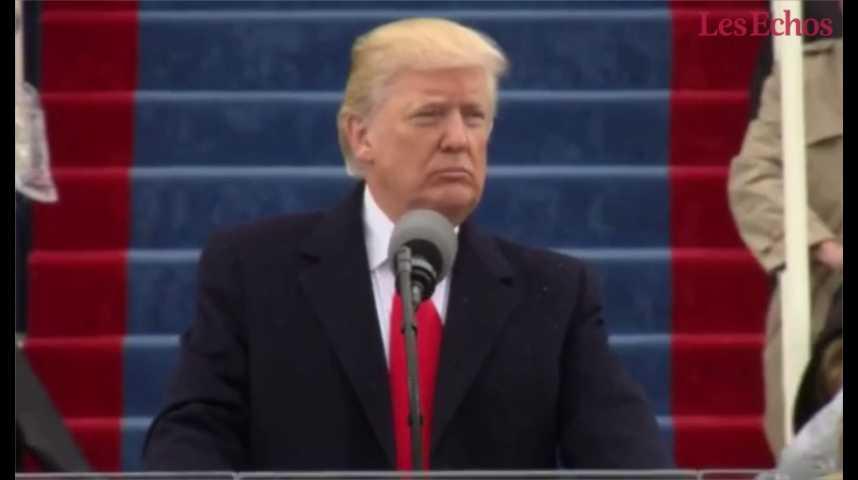 Illustration pour la vidéo « A partir de maintenant, ce seral'Amérique d'abord», promet Donald Trump
