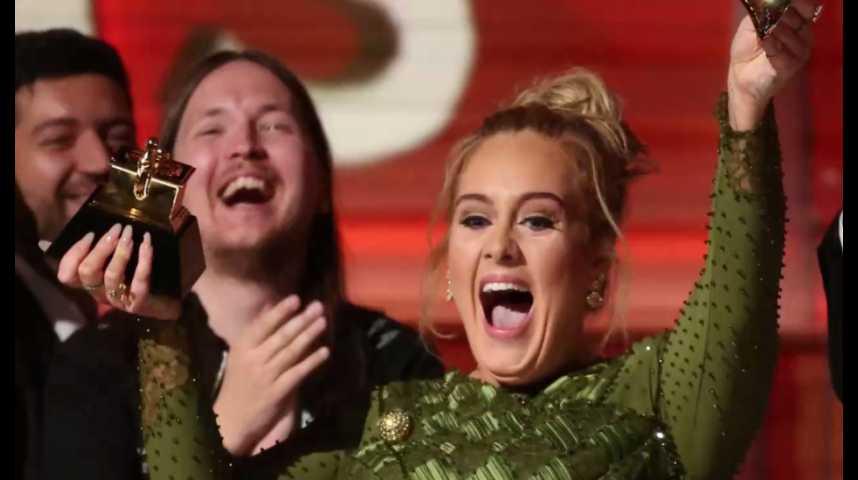 Illustration pour la vidéo Le triomphe d'Adele lors des Grammy Awards