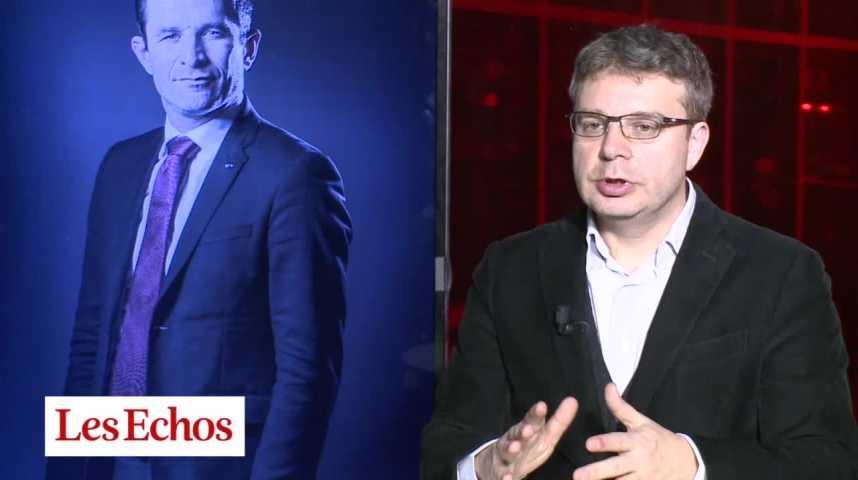 Illustration pour la vidéo Primaire à gauche : Benoît Hamon l'emporte largement, fort du report des voix d'Arnaud Montebourg