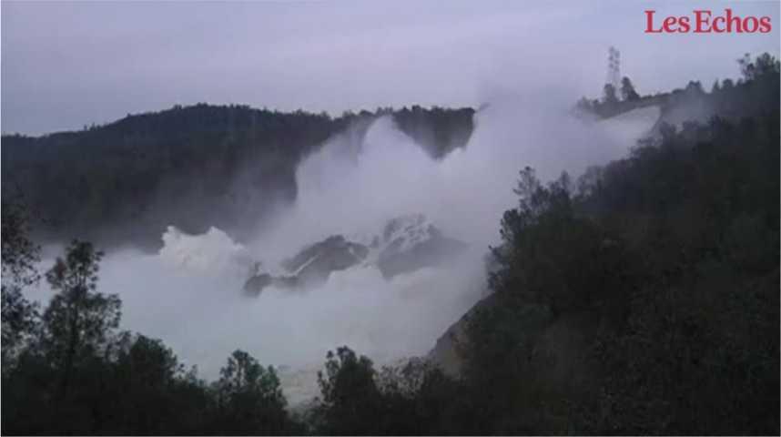 Illustration pour la vidéo Le plus haut barrage des Etats-Unis menace de céder
