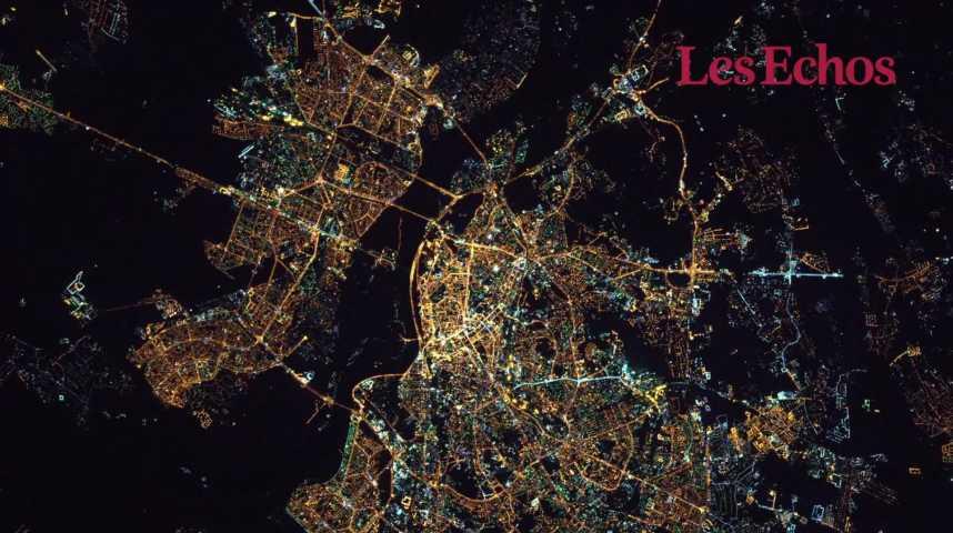 Illustration pour la vidéo  Les plus belles photos de villes par Thomas Pesquet dans l'espace