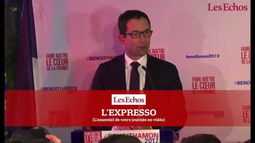Illustration pour la vidéo Primaire : climat tendu entre Hamon et Valls avant le dernier débat ce soir
