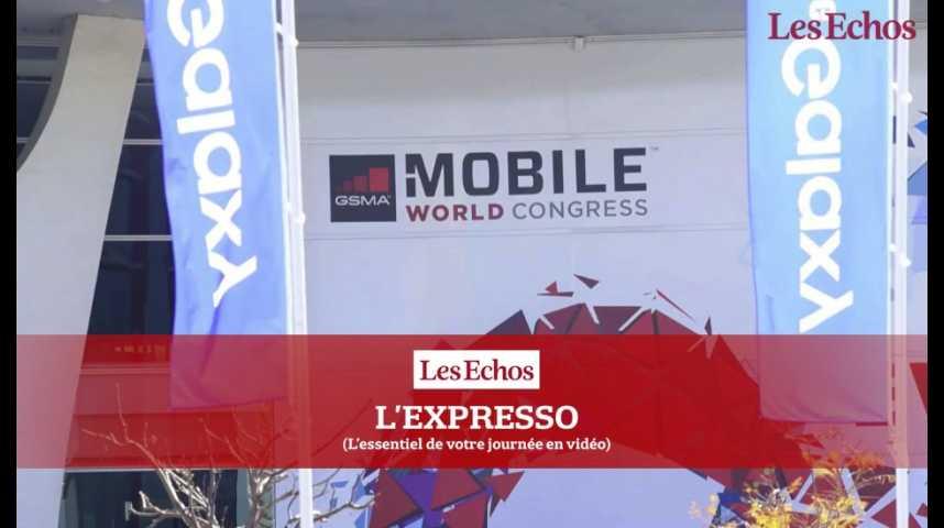 Illustration pour la vidéo Au Mobile World Congress, les fabricants se bousculent à coup d'innovations
