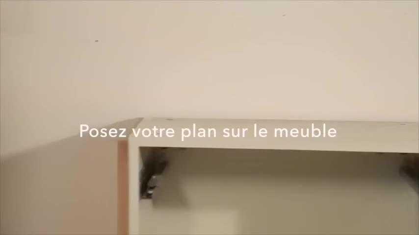 Brico : Poser Un Plan De Travail Sur Un Meuble - Video Sur Deco.Fr