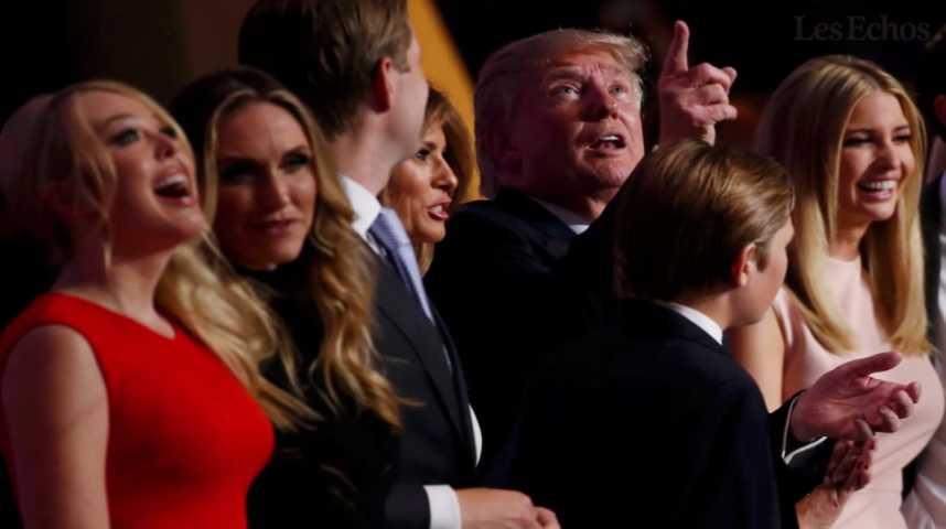 Illustration pour la vidéo Les Trump : une famille en campagne